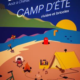 Camp d'été – rivière et bricoles
